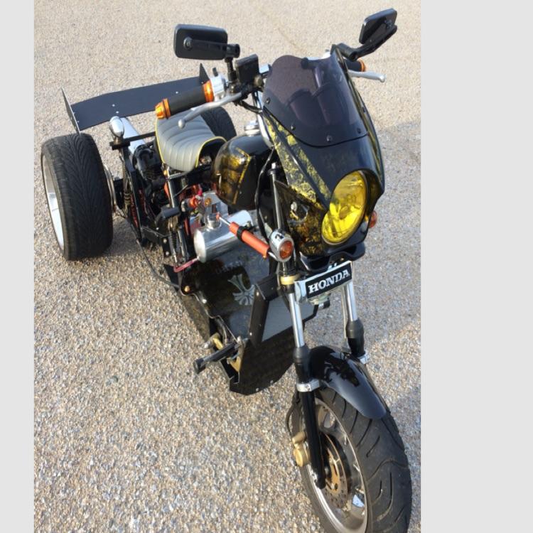 ジャイロアップ フルカスタム車両 ミニカー登録50cc