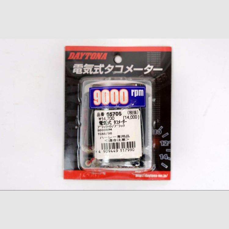 デイトナ 電気式タコメーター 9000RPM 黒/黒 ハーレー専用