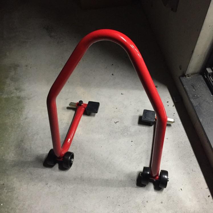 バイク メンテナンス用 スタンド メンテスタンド 赤