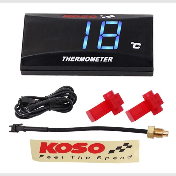 koso  デジタル 水温計 レッド ブルー