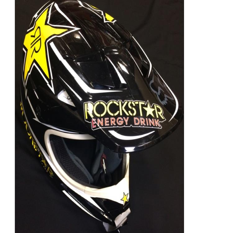 fox オフロード ヘルメット rockstar energy