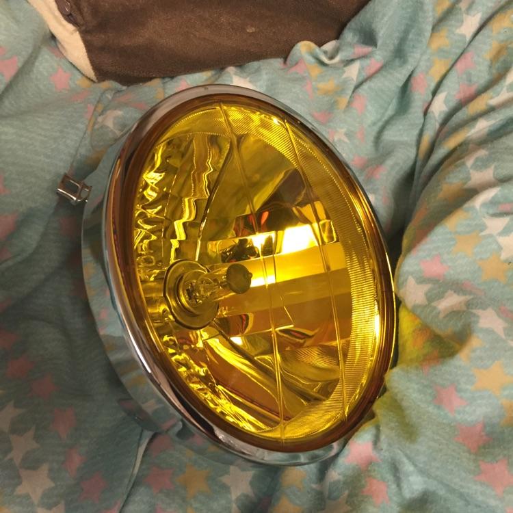 汎用180π 黄色 ヘッドライト ゼファーなど