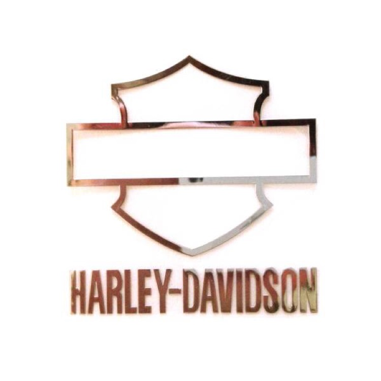 A6 ハーレー メタル ステッカー 4✕3.9cm
