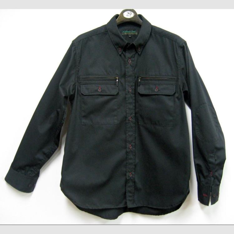 29 TWENTY NINE / ワークシャツ(ブラック、L)