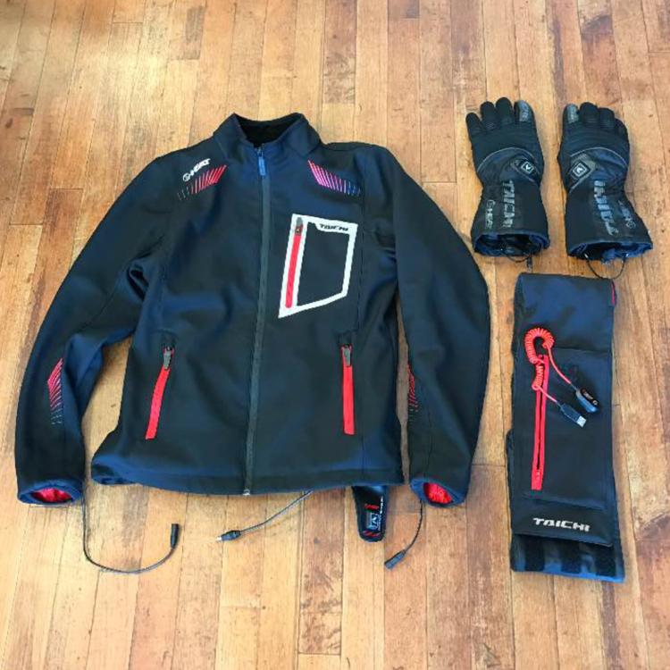 RS TAICHI e-HEAT ジャケット+グローブ+ウエストウォーマーセット