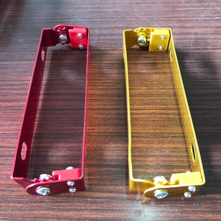バイク用 ナンバーステー 簡単 角度調整 原付 〜大型 2色 赤 金選択可能‼️
