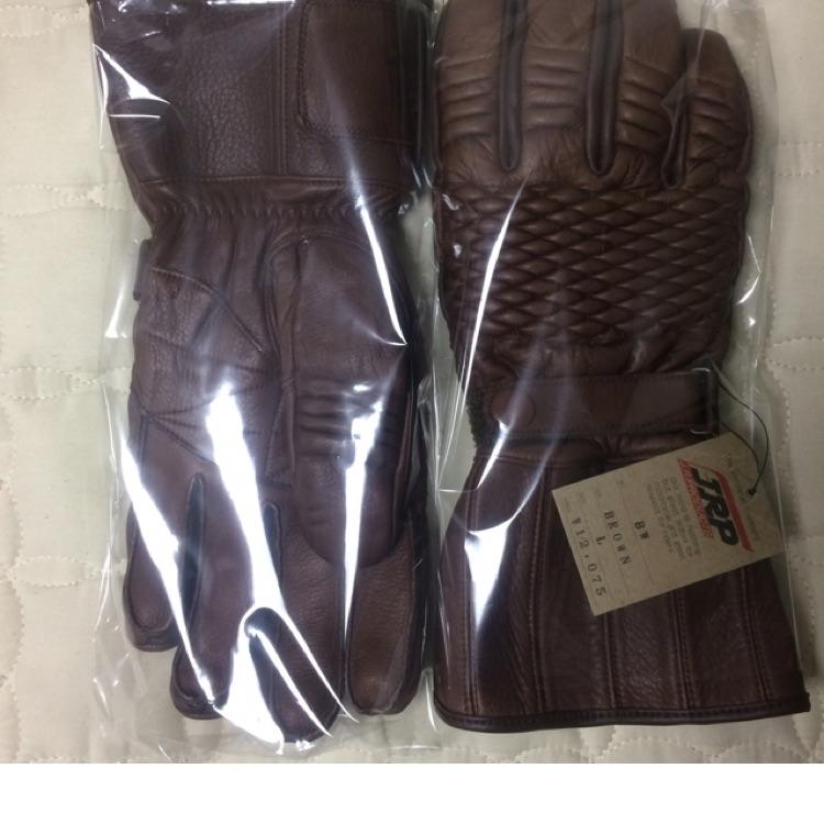 新品半額!防水加工革手袋 ブラウン ウィンターレザーグローブ