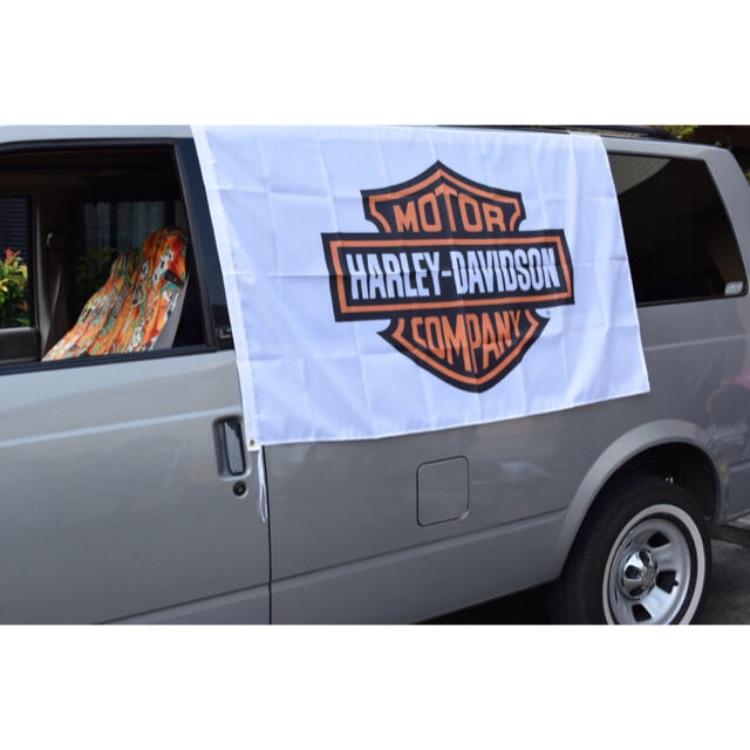 ハーレーダビッドソン BIGサイズ フラッグ 入手困難 ガレージ DIY