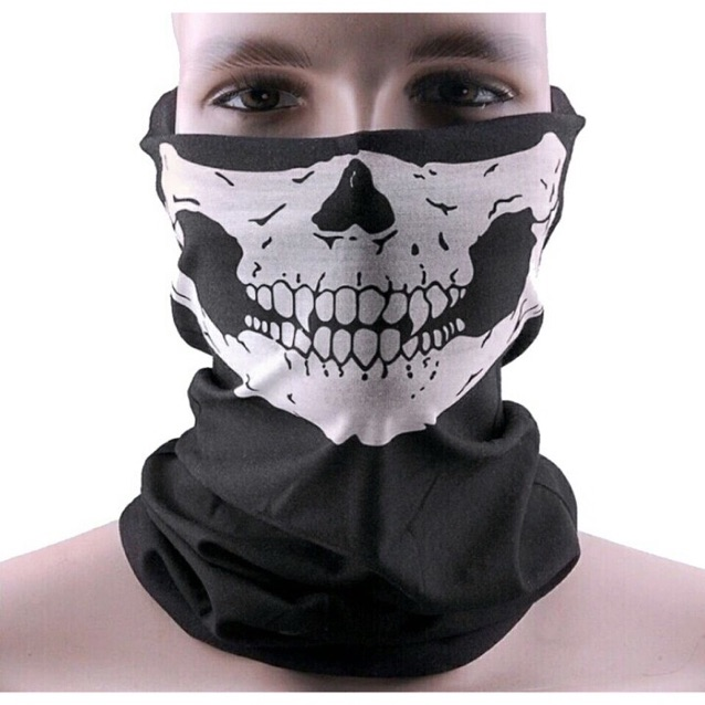 【即買OK】スカル フェイスマスク ネックウォーマー 黒