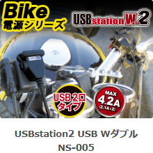 NS-005 USB Stationダブル2 5V 2.1A USB端子 2口タイプ