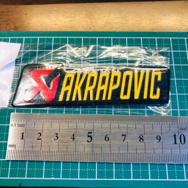 akrapovic アクラポ アルミ 耐熱ステッカー エンブレム