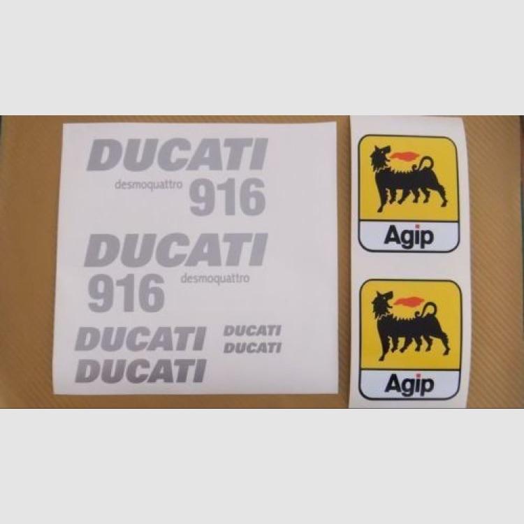 DUCATI ドゥカティ 916 ステッカー デカール シルバー