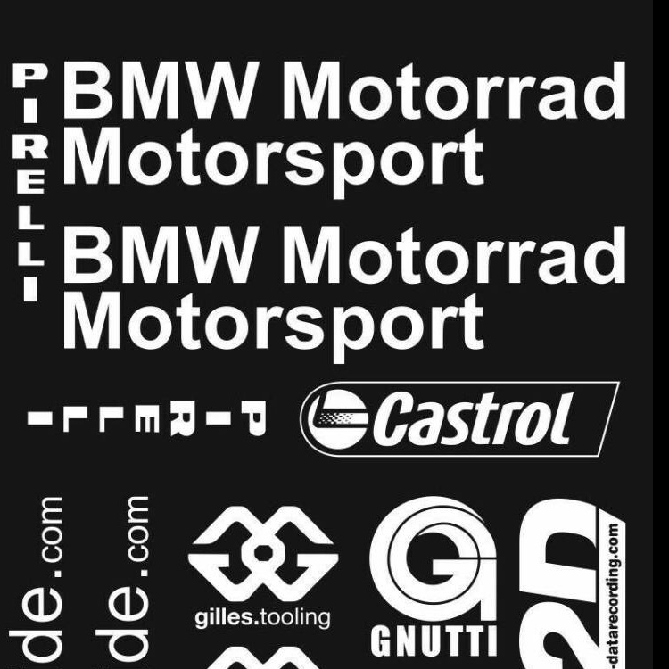 BMW S1000RR スポンサー デカール ステッカー 14枚セット 白文字