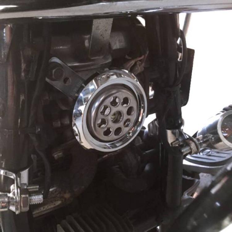 バイク メッキホーン シングル アメリカン 85mm ドラッグスター等