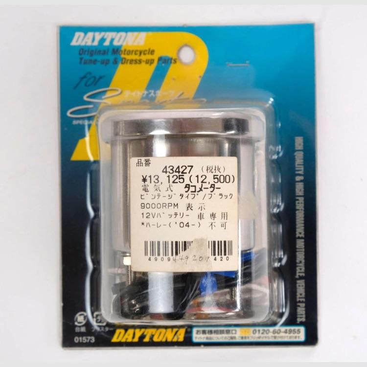 デイトナ NEW電気式タコメーター 9000rpm ビンテージタイプ/ブラック