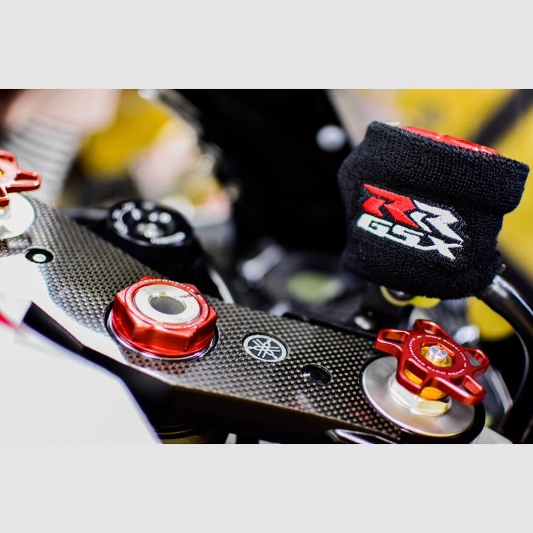 【数量限定】GSX-RR おまけ有!汎用ブレーキマスターシリンダーカバー 新品