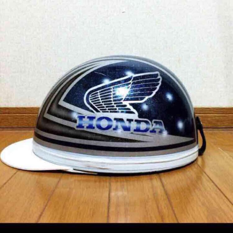 コルク半  ヘルメット 三つボタン ホンダ HONDA